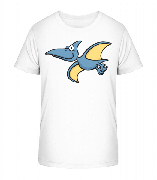 Cartoon Pterosaur - Kid's Premium Bio T-Shirt - White - Front