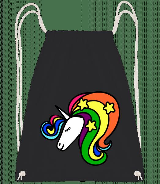 Unicorn Rainbow - Drawstring Backpack - Black - Vorn