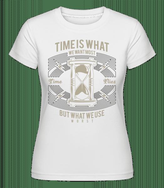 Time -  Shirtinator Women's T-Shirt - White - Vorn