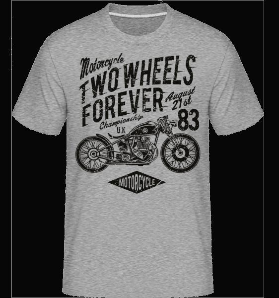 Two Wheels Forever -  Shirtinator Men's T-Shirt - Heather grey - Vorn