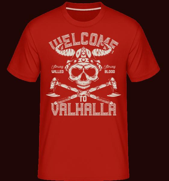 Welcome To Valhalla -  Shirtinator Men's T-Shirt - Red - Vorn