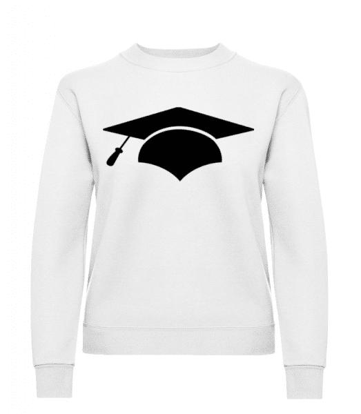 Graduation Cap - Women's Sweatshirt - White - Front