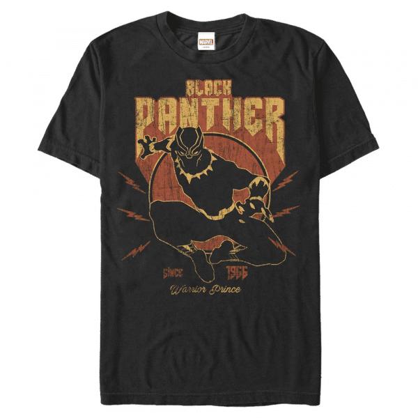 Lighting Panther Black Panther - Marvel Avengers - Men's T-Shirt - Black - Front