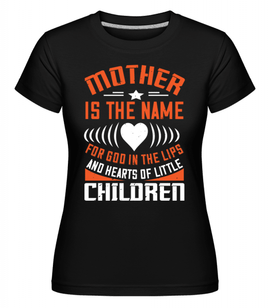 Mother Name -  Shirtinator Women's T-Shirt - Black - Front