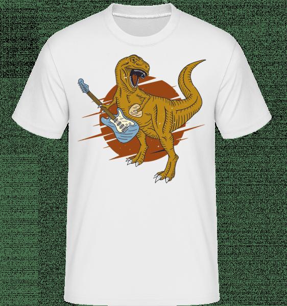 Dino Guitar -  Shirtinator Men's T-Shirt - White - Vorn