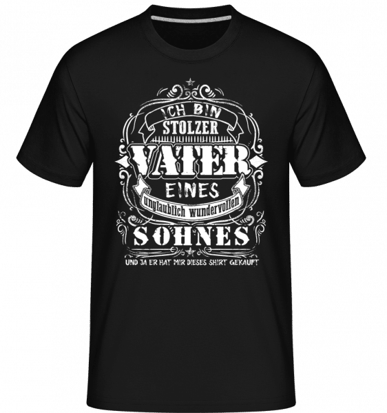 Ich Bin Stolzer Vater - Shirtinator Männer T-Shirt - Schwarz - Vorn