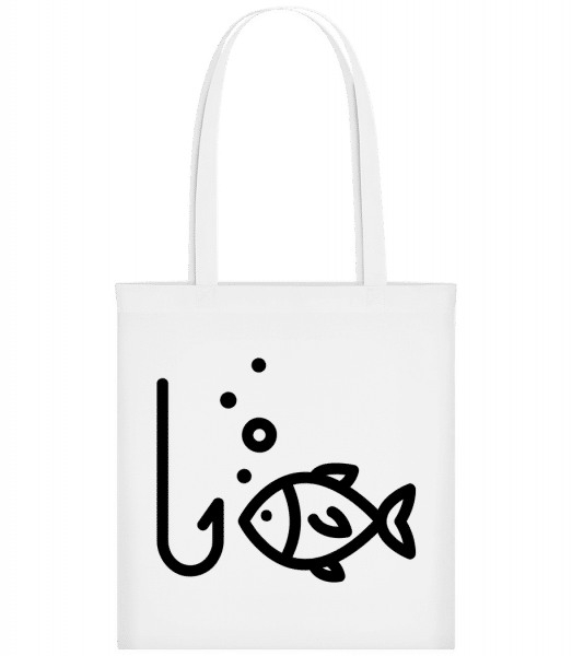 Fishing Comic - Carrier Bag - White - Vorn