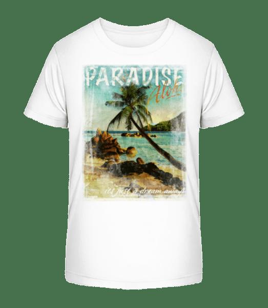 Paradise Aloha - Kid's Premium Bio T-Shirt - White - Vorn