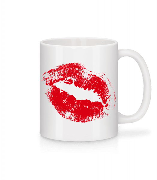 Red Lips - Mug - White - Front