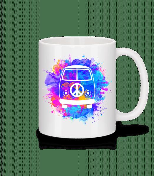 Hippie Bus - Mug - White - Vorn