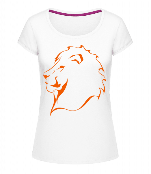 Lion - Megan Crewneck T-Shirt - White - Vorn