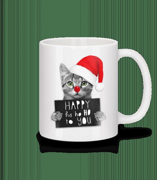 Happy Ho Ho Ho To You - Mug - White - Vorn