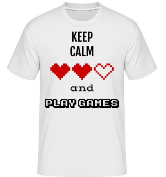 Play Games -  Shirtinator Men's T-Shirt - White - Front