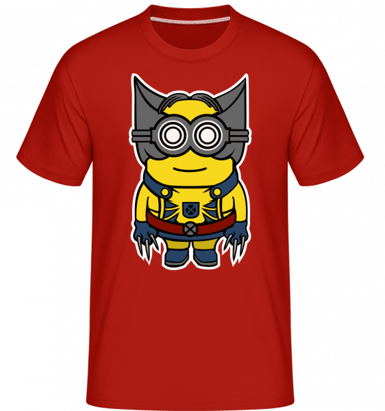 Minion Wolverin -  Shirtinator Men's T-Shirt - Red - Front