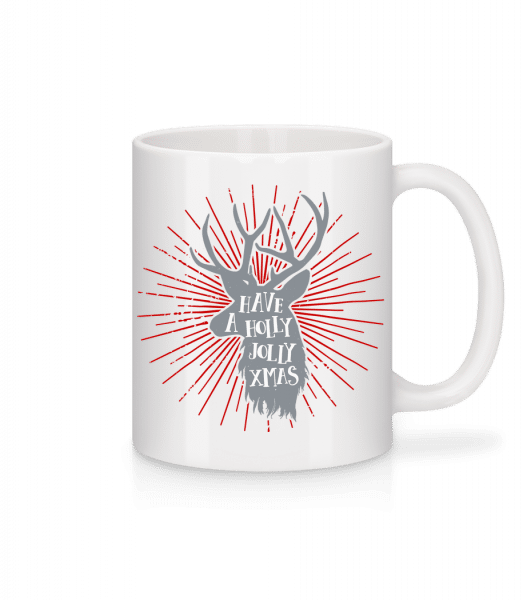 Have A Holly Jolly Xmas - Mug en céramique blanc - Blanc - Vorn