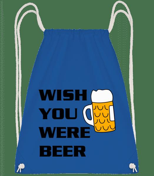 Wish You Were Beer - Drawstring Backpack - Royal blue - Vorn