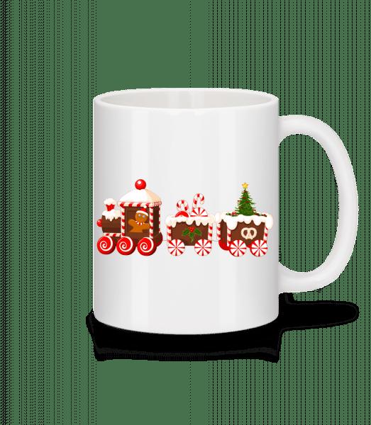 Gingerbread Train - Mug - White - Vorn