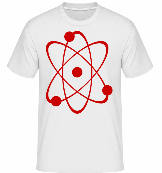 Symbol Of An Atom -  Shirtinator Men's T-Shirt - White - Vorn