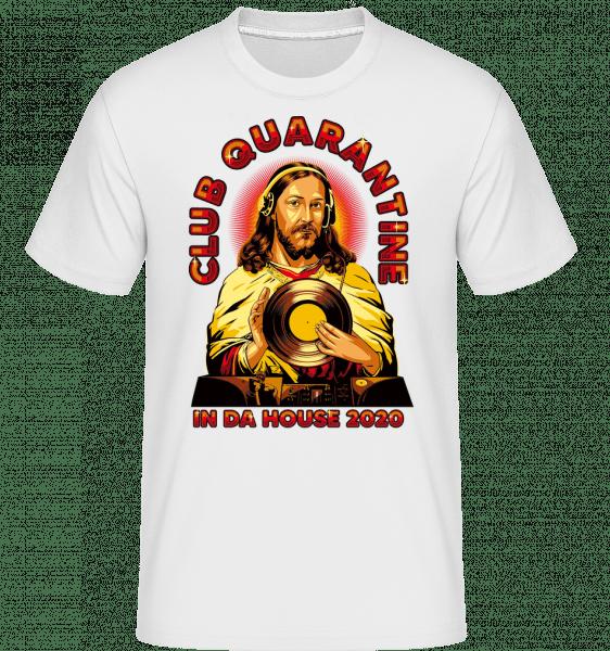 Club Quarantine -  Shirtinator tričko pre pánov - Biela - Predné