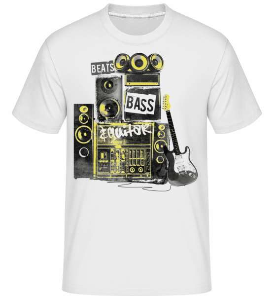 Beat Bass And Guitar - Shirtinator Männer T-Shirt - Weiß - Vorn