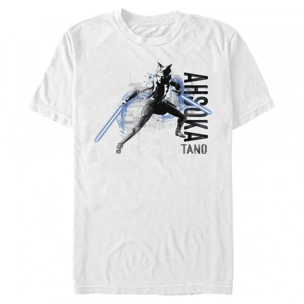 Ahsoka Collage - Star Wars Clone Wars - Men's T-Shirt - White - Front