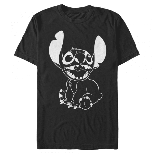 Negative Stitch - Disney Lilo & Stitch - Men's T-Shirt - Black - Front