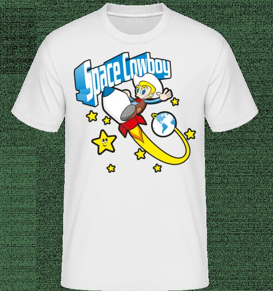 Space Cowboy -  Shirtinator Men's T-Shirt - White - Front