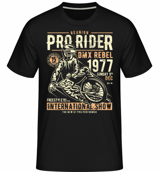Pro Rider -  Shirtinator Men's T-Shirt - Black - Front