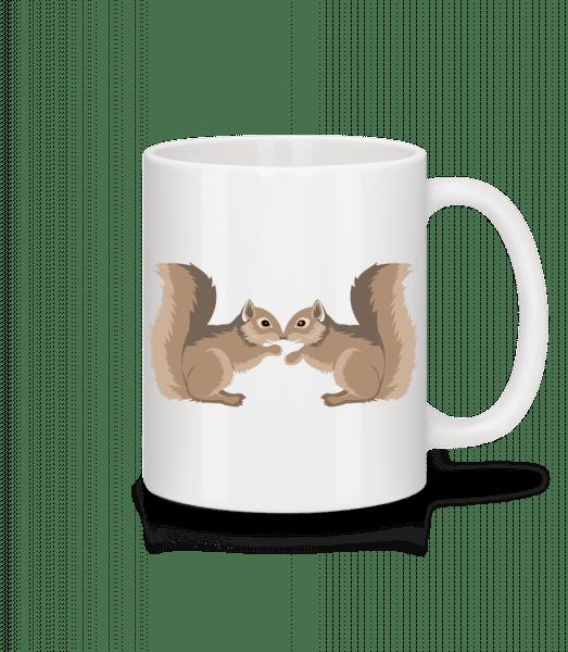 Squirrels - Mug - White - Vorn