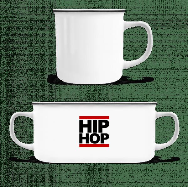 Hip Hop Logo - Enamel-cup - White - Front