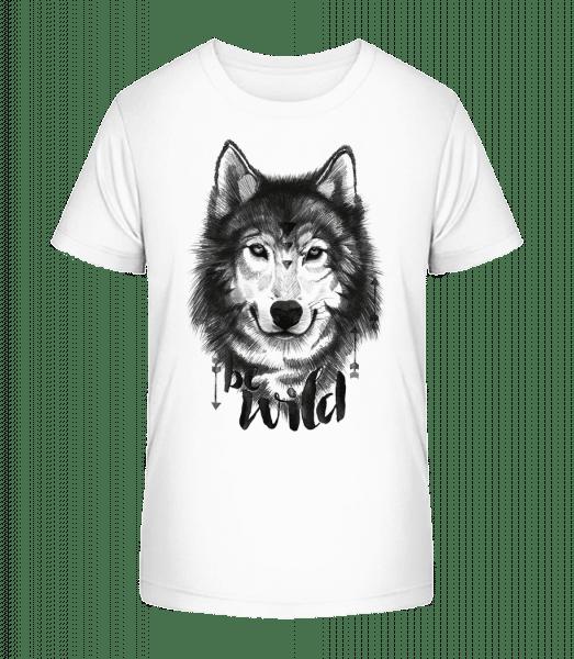 Be Wild - Kinder Premium Bio T-Shirt - Weiß - Vorn