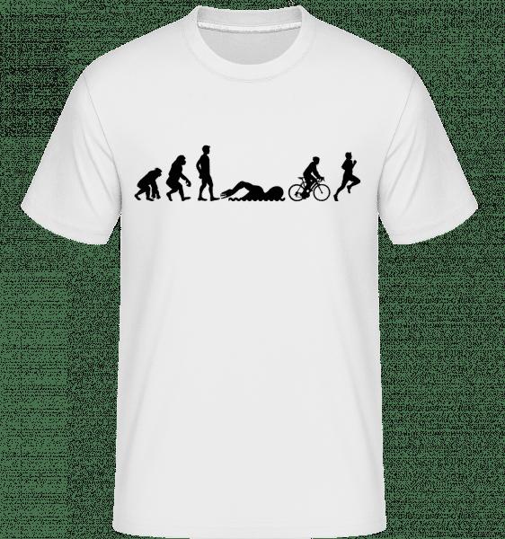 Evolution Of Triatlon -  Shirtinator Men's T-Shirt - White - Vorn