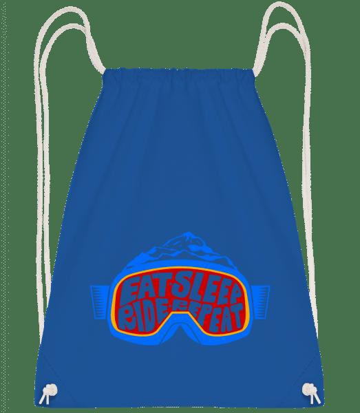 Eat Sleep Ride Repeat - Drawstring Backpack - Royal blue - Vorn