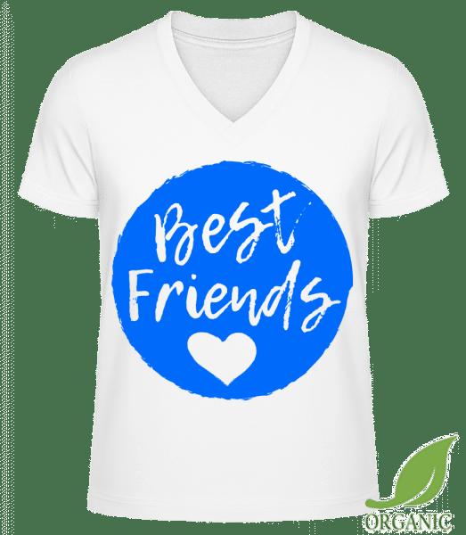 "Best Friends Love - ""James"" Organic V-Neck T-Shirt - White - Vorn"