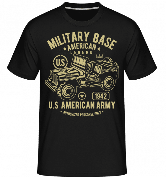 American Army Jeep -  Shirtinator Men's T-Shirt - Black - Front