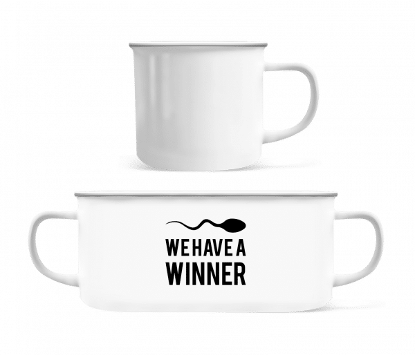 Sperm Winner - Enamel-cup - White - Vorn