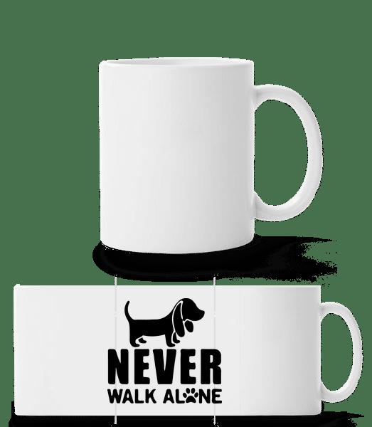Never Walk Alone Dog - Panorama Mug - White - Front