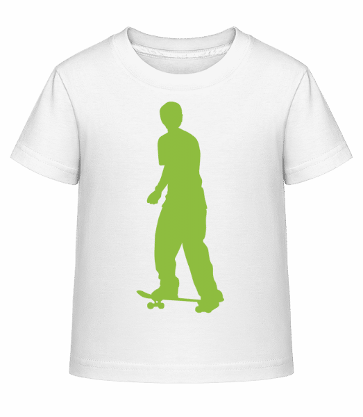 Skater Push - Kid's Shirtinator T-Shirt - White - Vorn