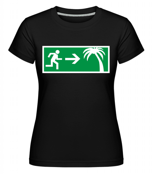Emergency Exit Holidays -  Shirtinator Women's T-Shirt - Black - Vorn