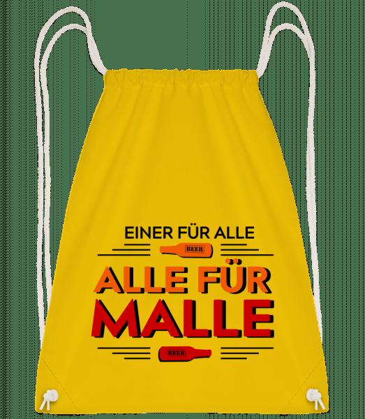 Einer Für Alle Alle Für Malle - Turnbeutel - Gelb - Vorn