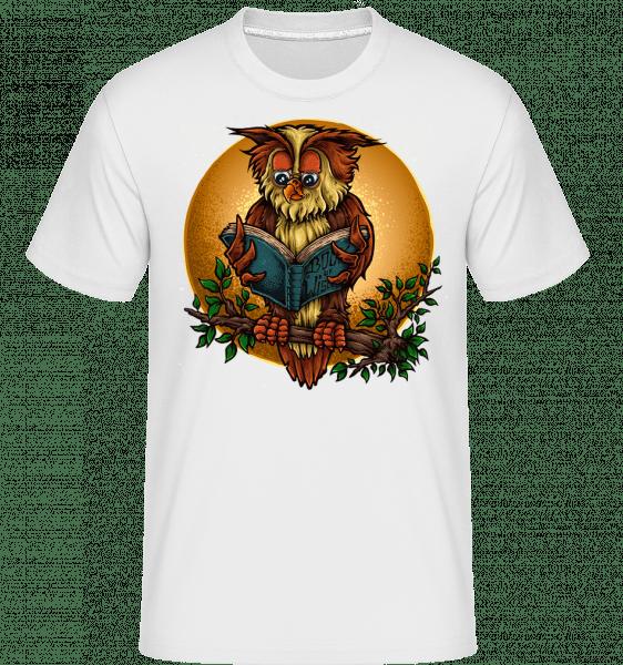 Wise Owl -  Shirtinator tričko pre pánov - Biela - Predné