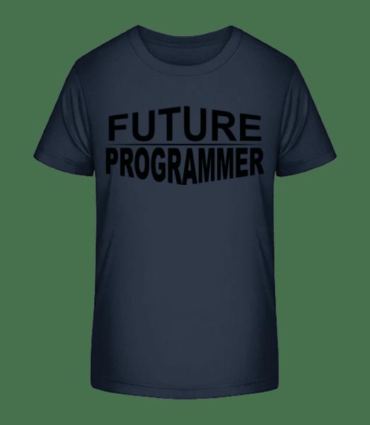 Future Programmer - Kid's Premium Bio T-Shirt - Navy - Vorn