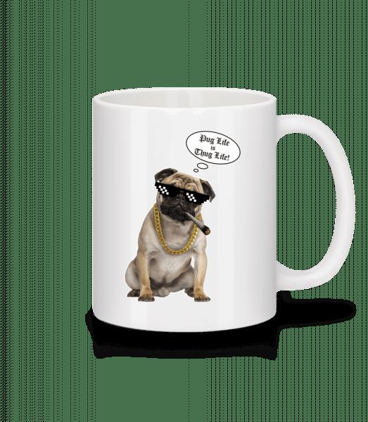 Pug Life Thug Life - Mug - White - Vorn