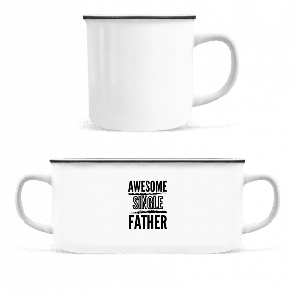 Awesome Single Father - Enamel-cup - White - Vorn