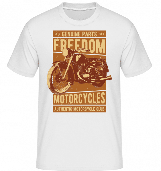 Freedom Motorcycles -  Shirtinator Men's T-Shirt - White - Vorn