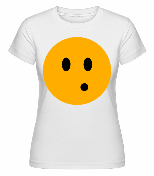 Surprised Smiley -  Shirtinator Women's T-Shirt - White - Vorn