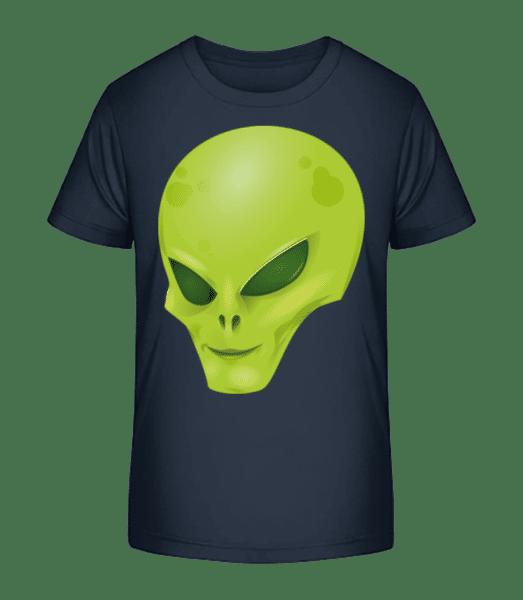 Alien Head - Kid's Premium Bio T-Shirt - Navy - Vorn