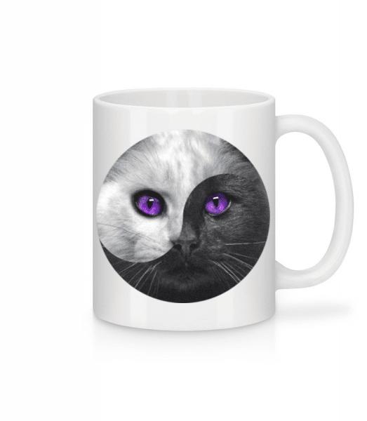 Yin And Yang Cat - Mug - White - Front