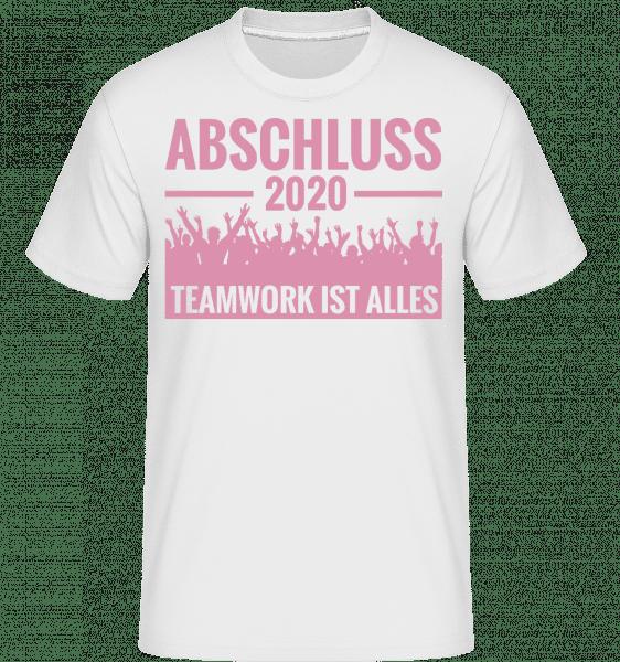 Abschluss 2020 Teamwork - Shirtinator Männer T-Shirt - Weiß - Vorn