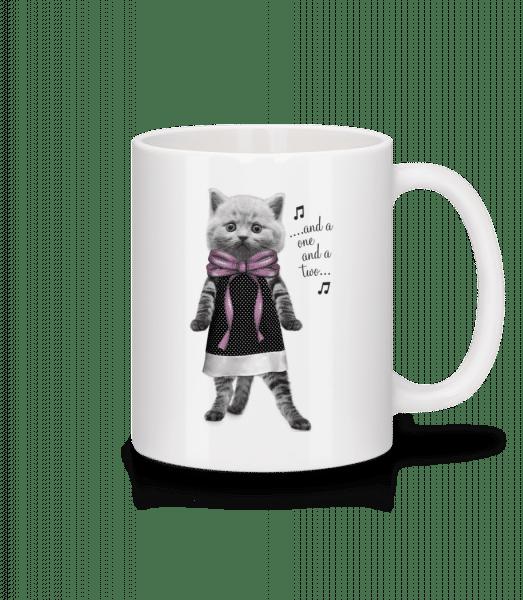 Dancing Cat - Mug - White - Front